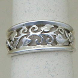 R100 Stg. Silver Filligree band