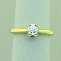 Diamond Engagement Ring, set with a .50ct. Diamond, in 18ct Gold.
