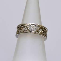 R279 Diamond Koru Engagement ring