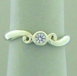 Koru and Diamond ring   R327