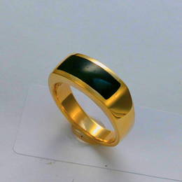 Mens wedding ring, NZ greenstone, Pounamu, and 9ct gold.