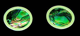 CL2 Silver and Paua shell Cufflinks