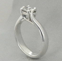 Diamond Set Koru  Engagement Ring