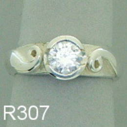 Diamond and koru engagement ring