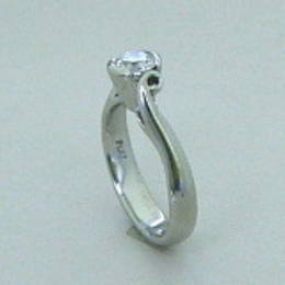 Diamond and koru engagement ring R306