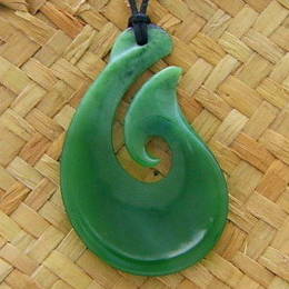 Greenstone pounamu bone pendants greenstone fish hook hei matua pendant mozeypictures Gallery