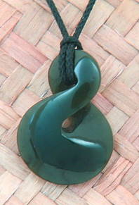 NZ Greenstone or pounamu with a Single Twist