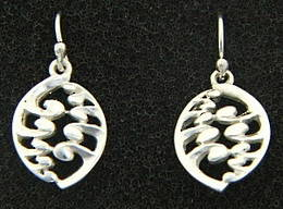 E21 Silver Fern earrings Silver