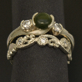 pacific treasures     R346 DIAM SET KORU WEDDING RING 2-781