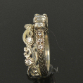 pacific treasures    R346 DIAM SET KORU WEDDING RING-447