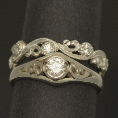 pacific treasures   R346 DIAM SET KORU WEDDING RING-970