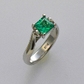 pacific treasures R292 koru  diamond and emerald-136
