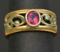 pacifictreasures R251  rose gold silver ruby-462-908