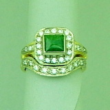 pacifictreasures R293 greenstone and diam