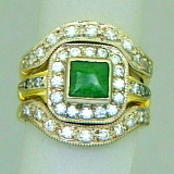 pacifictreasures gold greenstone diamond set