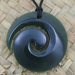 Greenstone and Koru Pendant