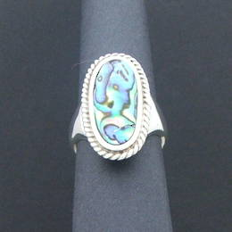 Silver and Paua shell Ring