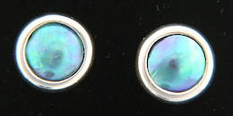 E9 Paua pearl Silver stud Earrings