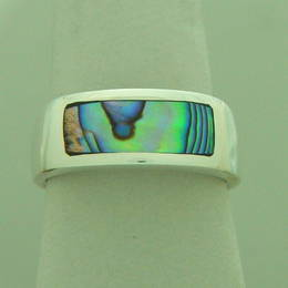 Paua Shell and Stg.Silver ring.